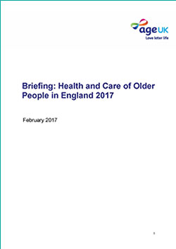 Health and Care of Older People in England 2017