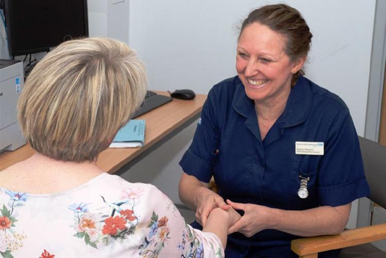 Rheumatology specialist nurse, Sharon Pearson in the Lister's new flare clinic